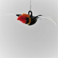 Glas Doppelhorn Vogel...