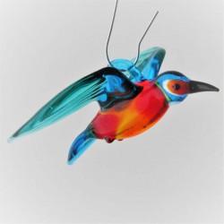 Glas mini Eisvogel blau...