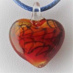 20 mm Herz rot Muranoglas...