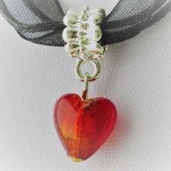 27x12mm Muranoglas Herz zum...