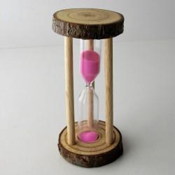 Sanduhr zylindrisch Glas im...