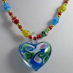 Kette mit Herz Muranoglas