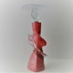 Glas Flacon  Frau   rot FR
