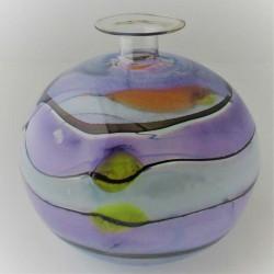 Glas Vase  A.Molnar  DE 1990