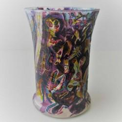 Glas Vase W.Bernhard DE