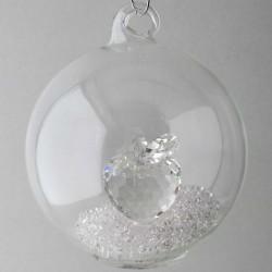 Glaskugel mit Kristall...