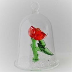 Glas Gloge mit Kristall...