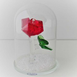 Glas Dom 12cm mit Kristall...