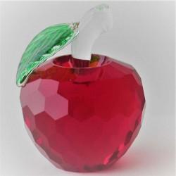 Kristallglas Apfel Rot