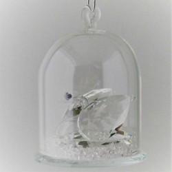 Glas Dom mit Kristall...
