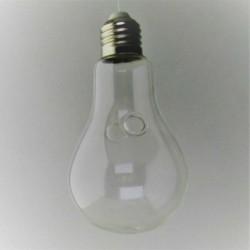 Glas Lampe Vase klar Dekor,...