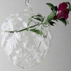 Glas Tannenzapfen Form Vase...