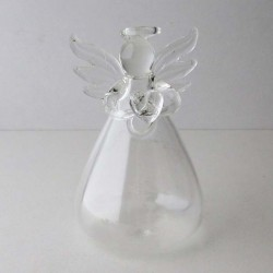 Glas Engel klein Vase klar...