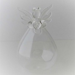 Glas Engel Vase klar Dekor,...