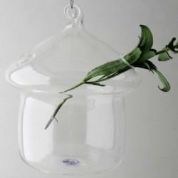 Glas Hausform Vase klar...