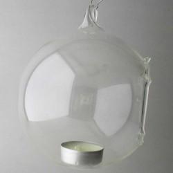 Glas Windlicht-kugel -...