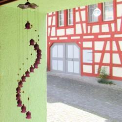 Glas Glocken-mobile mit 17...