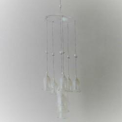 Glas Glocken mobile mit 8...
