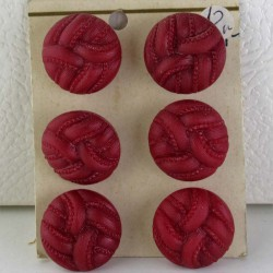 Knöpfe 22 mm  Dekorknöpfe rot