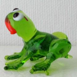 Glas Frosch 35mm klein grün