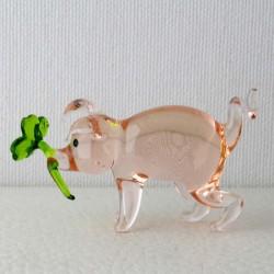 Glas Glücksschwein 62mm mit...
