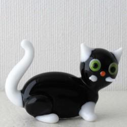 Glas Katze 44mm sitzend...
