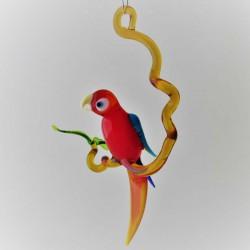 Glas Papagei 150 mm auf Ast...