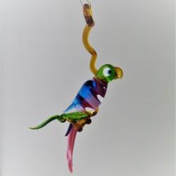 Glas Papagei 150mm auf Ast...