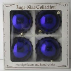 Kugel blau 10 cm Schachtel...