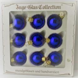 Kugel blau 4 cm Schachtel 9...