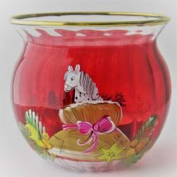 Windlichtglas 65mm rot...