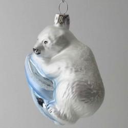 Eisbaer, weiß, blau