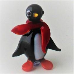 Glas Pinguin mit Schal zum...