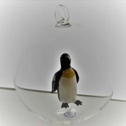 Glaskugel 80 mm Pinguin...