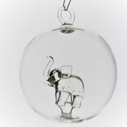 Glaskugel 65 mm Elefant...