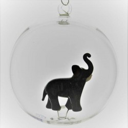 Glaskugel 80 mm Elefant...