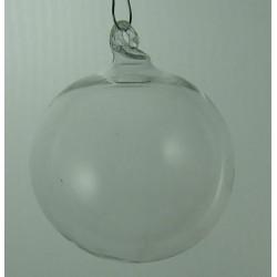 Kugel 10 cm klar zum hängen