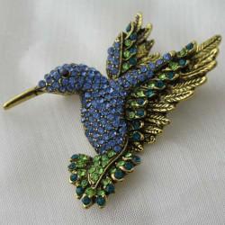 Brosche - Anhänger Kolibri...