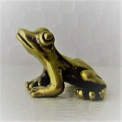 Frosch klein Messing Bronze...