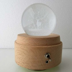 3D Kristall Ball Musik Box...