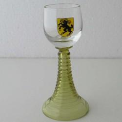 Schnapsglas  SH Wappen bemalt