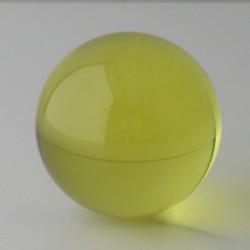 Kristallglas Kugel Gelb  16...