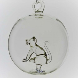 Glaskugel mit Glas Katze...