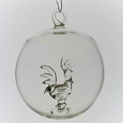 Glaskugel mit Glas Hahn...