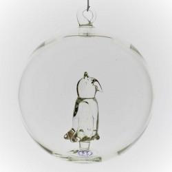 Glaskugel mit Glas Eule...