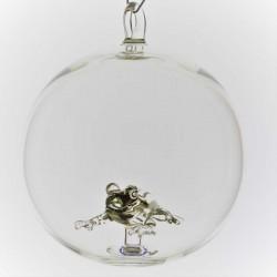 Glaskugel mit Glas Frosch...