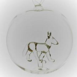 Glaskugel mit Glas Fuchs...
