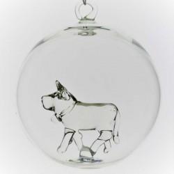 Glaskugel mit Glas Kuh...