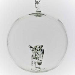 Glaskugel mit Glas Nashorn...