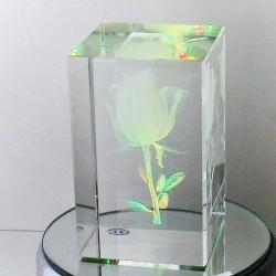 Rose - Engel Glaswürfel mit...